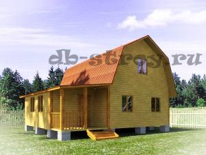 проект дома 7х9 м с больщой террасой