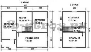 схемы планировок этажей, ДБ-39