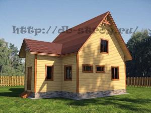 деревяный коттедж 7 на 9 м с обособленным тамбуром