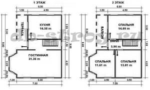 планировка проекта ДБ-42 7 на 9