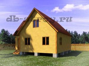 модель дома по проекту ДБ-44