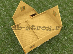 модель мансардного этажа