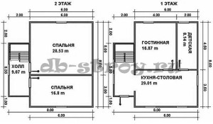 планировка дома, проект ДБ-44