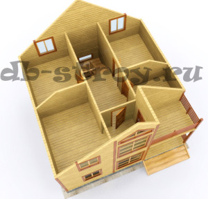 план мансардного этажа, коттедж ДБ-46