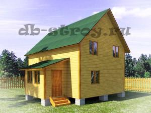 дом 6х9 с тамбуром 2х3.5 м в 1,5 этажа