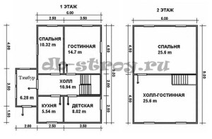 план схема этажей, проект ДБ-49
