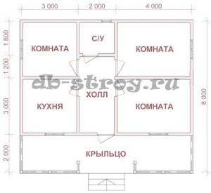 базовая планировка проекта ДБ-50 8 на 9