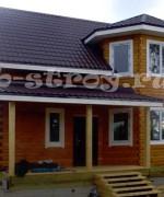 дом окрашен колерующим антисептическим составом