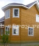 фронтоны дома полностью из бруса