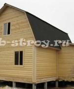 вид дома с задней части, проект дома 7 на 8 м