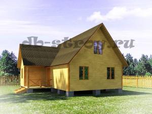 трёхфронтонный дом с мансардой, проект ДБ-55