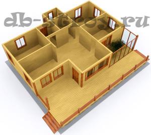 3d модель коттеджа